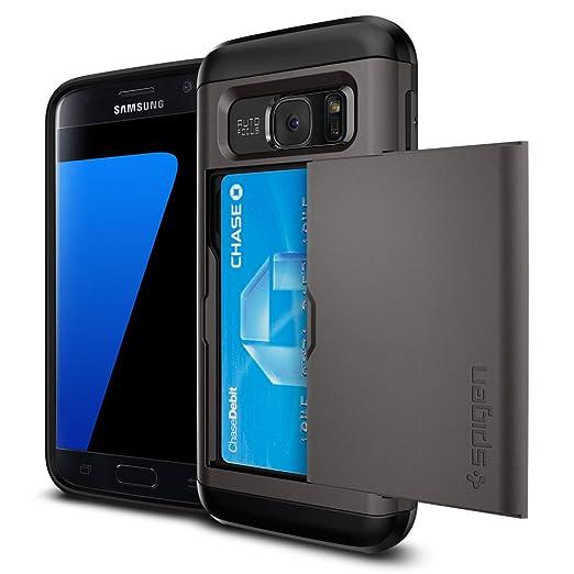 2 opinioni per Custodia Galaxy S7, Spigen [Slim Armor CS] Galaxy S7 Card Holder [Gunmetal] Slim