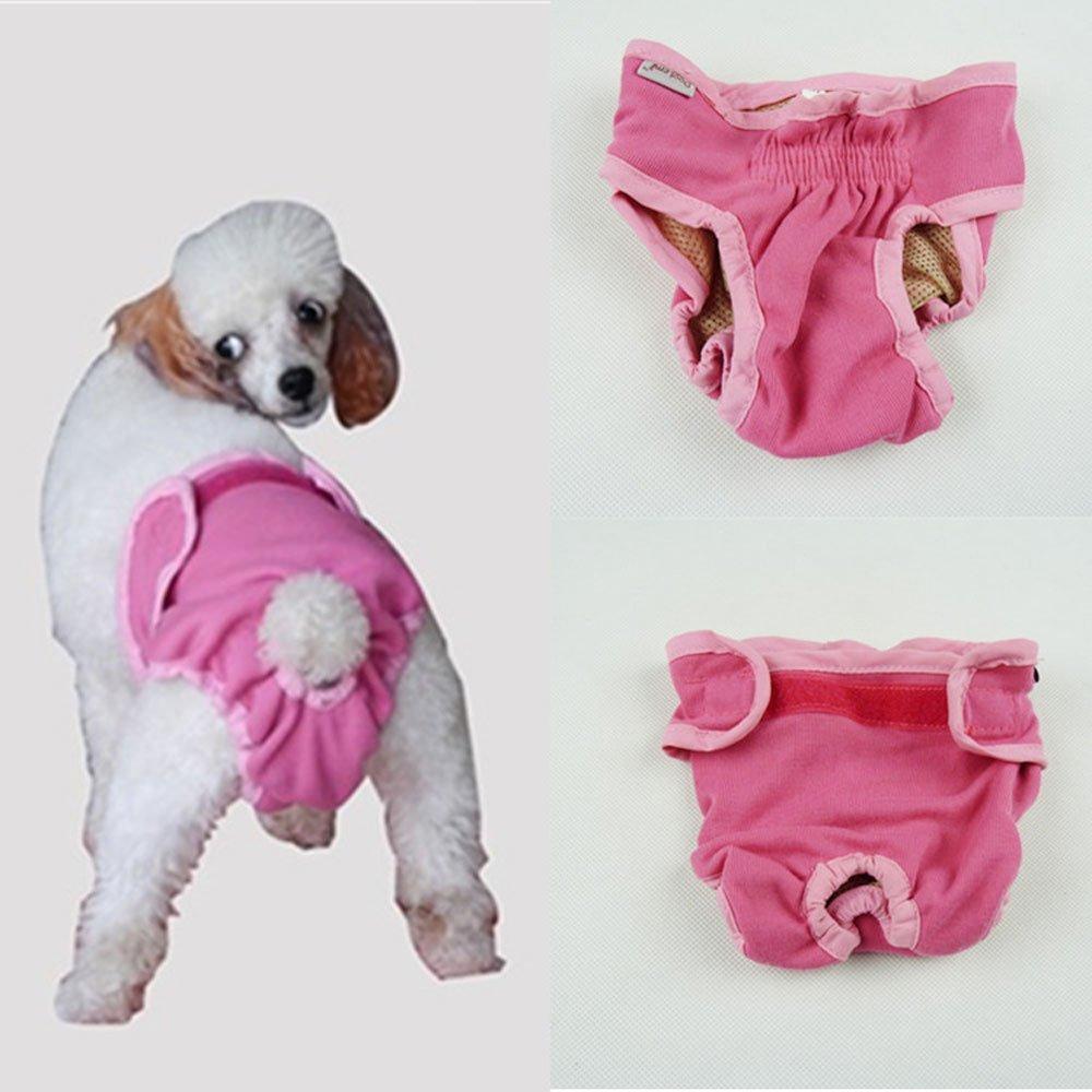 dealglad® Cosy Pet chiot pour chien en coton Culotte physiologique menstruel sanitaire couches Sous-vêtements pour femme lavable en machine