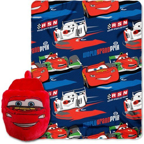 Disney Cars 2 Throw 40 x 50 Blanket Plus Foot Warmer Slipper Set ~ Pixar