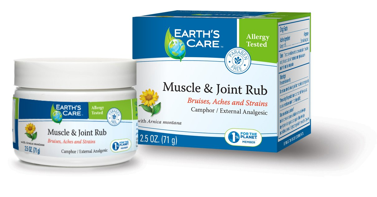Earth's Care Muscle & Joint Rub 2.5 OZ. / No Parabens, Colors or Fragrances/Allergy-Tested