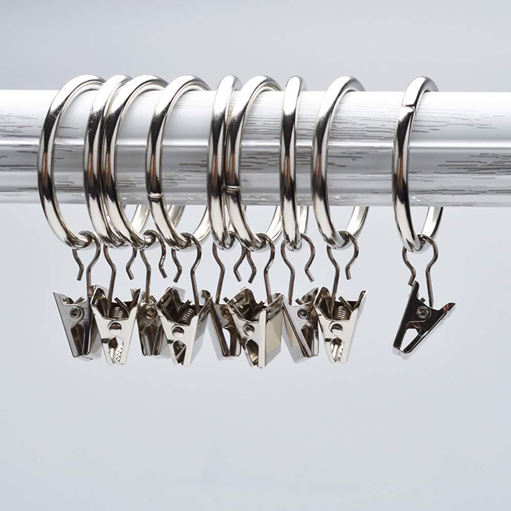 Musuntas Lot de 30 -anneaux avec pince pour rideaux Diamètre 35 mm Usage multiple