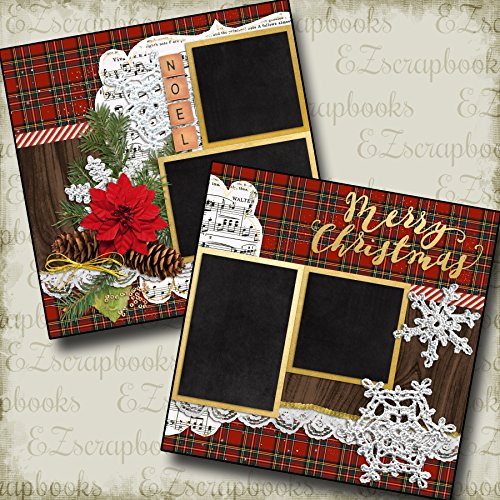 Premade Christmas Layouts - CHRISTMAS NOEL - Premade Scrapbook Pages - EZ Layout 640