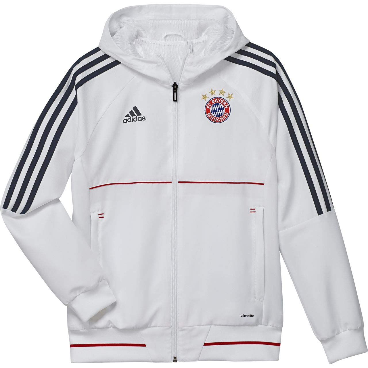 Adidas Kinder FC Bayern München Präsentationsjacke