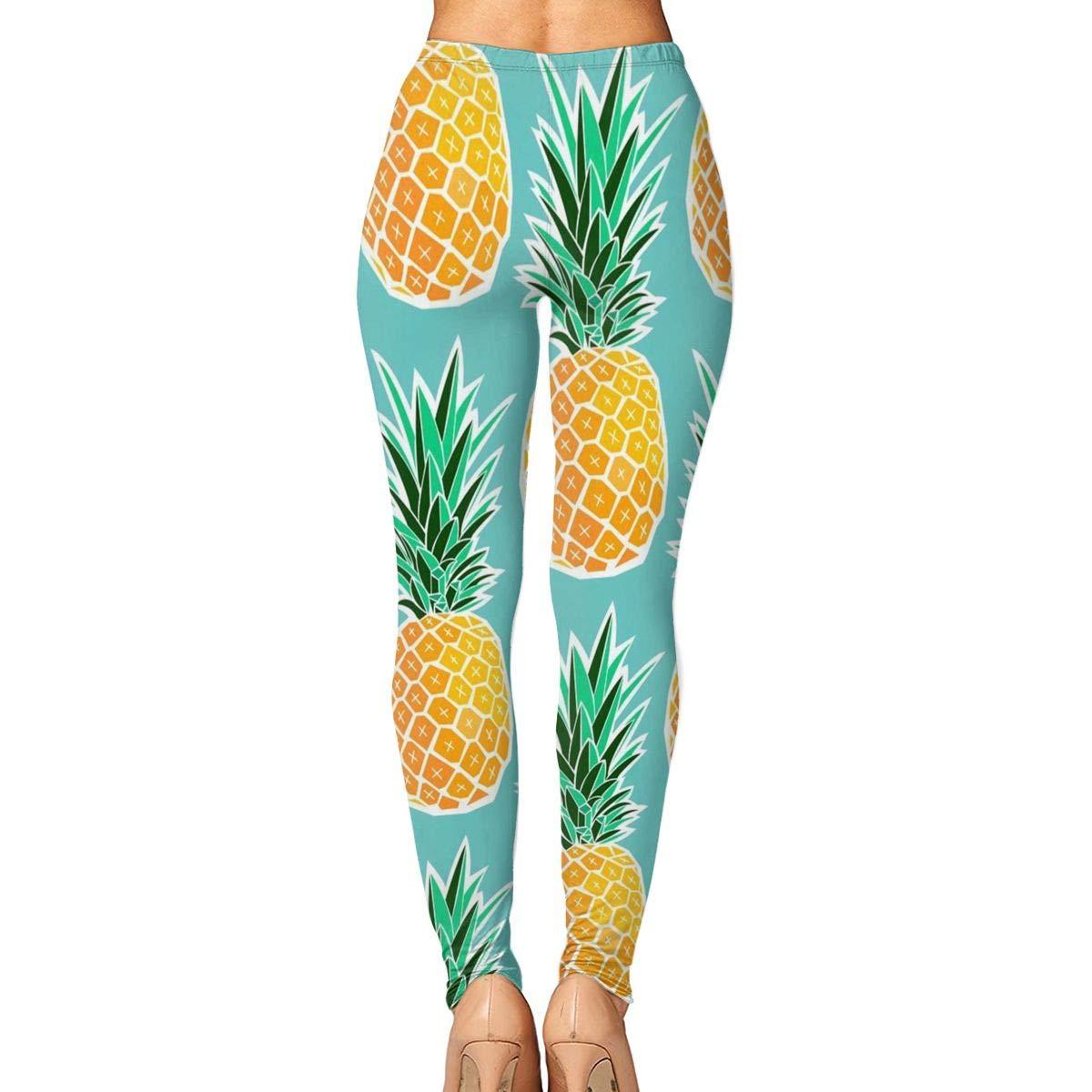 bb4e858b931d27 Amazon.com : HUIj Hawaiian Tropical Pineapple Women¡¯s Yoga Pants - Workout  Running Tummy Control Stretch Power Flex Stylish Long/Capris Leggings :  Sports & ...