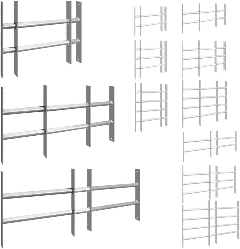 Size:30 x 100-150 cm Grilles de Fen/être Barreaux de Protection R/églable 9 Dimensions Acier V2Aox