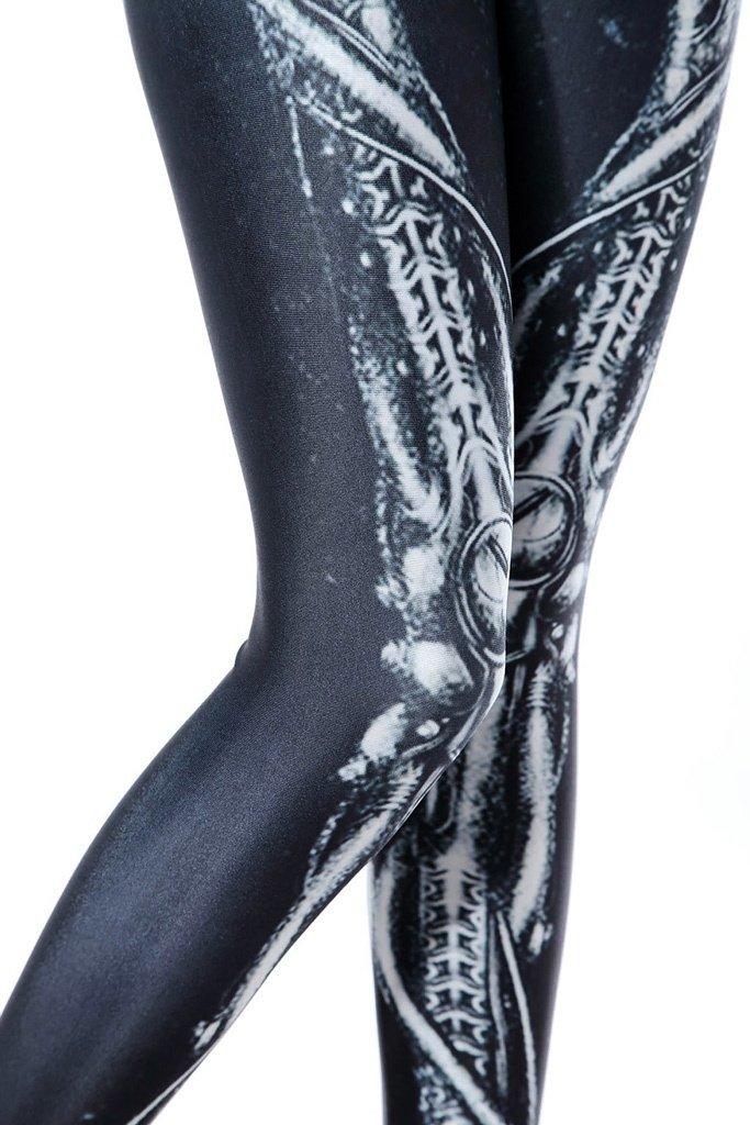 World of Leggings Steampunk Skeleton Leggings Medium by World of Leggings (Image #6)