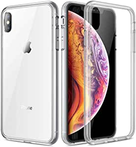 Abacus24-7 - iPhone Xs Max Case (2018), Slim Fit Protective TPU Skin Back Cover - Clear