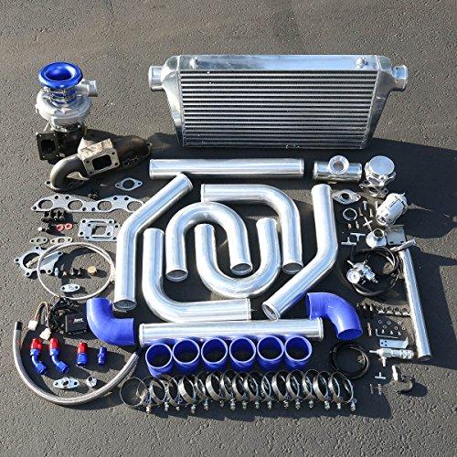 Turbo Sr20 Kit (For Nissan 240SX SR20 Enigne Swap 15pcs T04E Turbo Cast Manifold Upgrade Installation Kit)