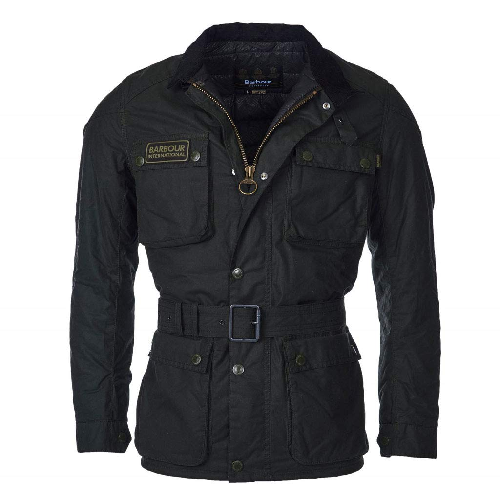 Barbour - Chaqueta de Moto de Cera International Blackwell ...