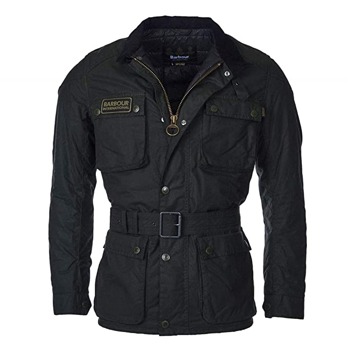 newest d6bfb f1478 Barbour Giacca Moto Cerata International Blackwell Wax ...