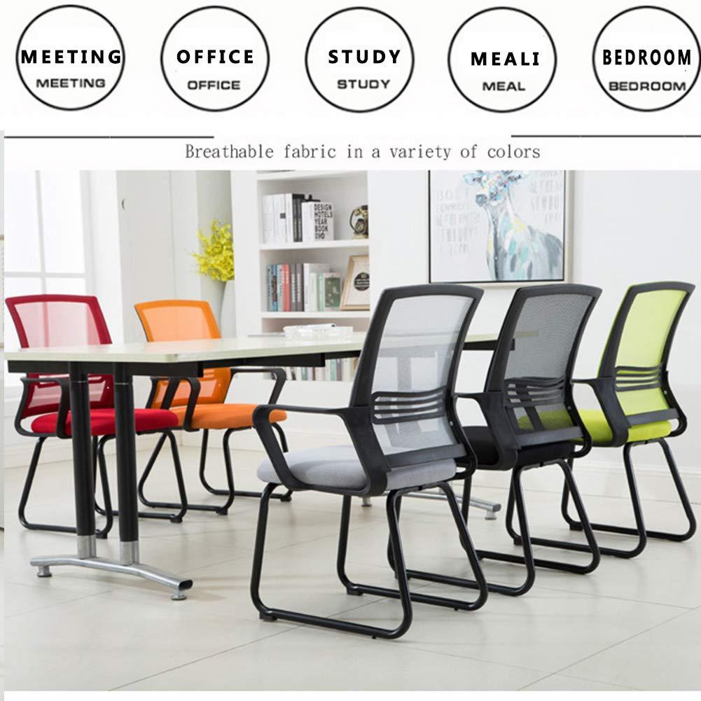 Kontorsstol, konferensstol elegant design kontor väntrum gäst mottagning, ergonomisk, hög rygg nät skrivbord kontorsstol dator uppgift stol, röd Röd