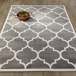 Ottomanson Paterson Collection Contemporary Moroccan Trellis Design Lattice Area Rug, 94\