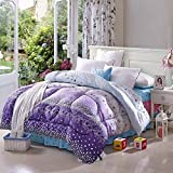 Polyester bed/bedding Warmth Full/Queen/Full/Twin Size Comforter Duvet Insert,Hypoallergenic Box Stitched,Printing Duvet Core,Rosemary Quilt,180×210m (2.5Kg)