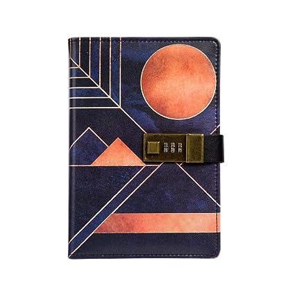 YWHY Cuaderno Cuaderno Diario Con Candado Cuaderno Adulto ...