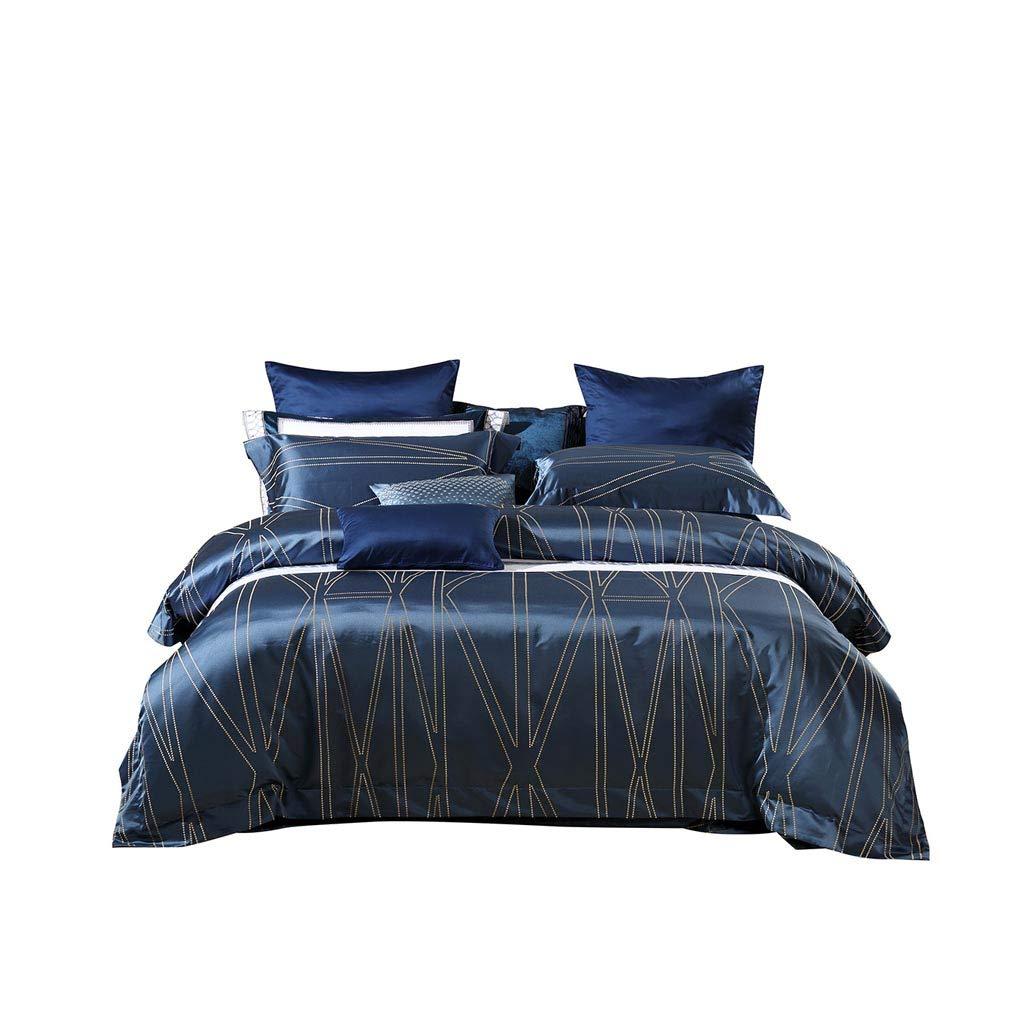 ダブルベッドカバー - ヨーロッパのジャカード4点セットコットン6FTベッドドミトリーの寝具セット B07G5XVGVX