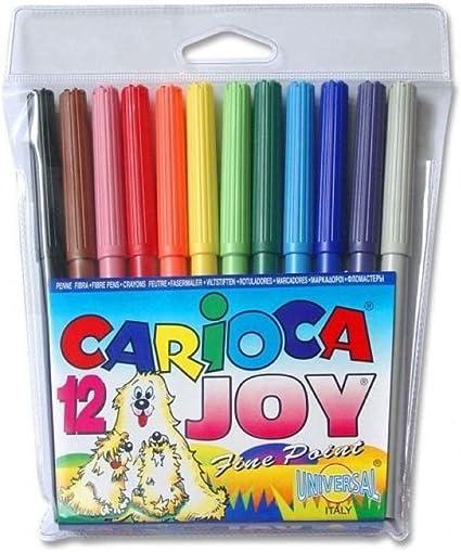 Rotulador Carioca Joy 14cm 12 Colores: Amazon.es: Oficina y papelería
