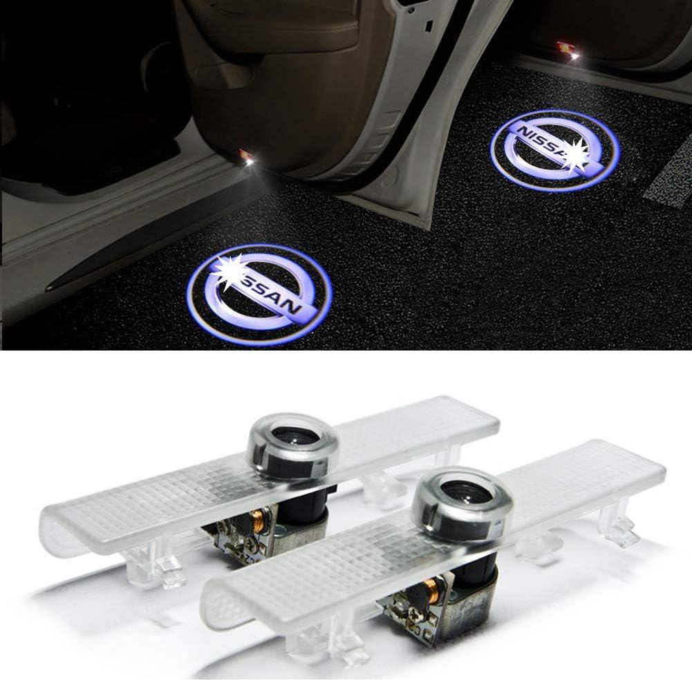 Grolish Easy Installation Car Door LED Lighting Logo Projector Welcome Light For Nissan Series (2-Pack)