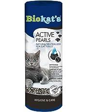 Biokat's Active Pearls mit Aktivkohle – Streuzusatz für Geruchsbindung in der Katzentoilette – Verlängert Nutzung der üblichen Katzenstreu – 1 Dose (1 x 700 ml)