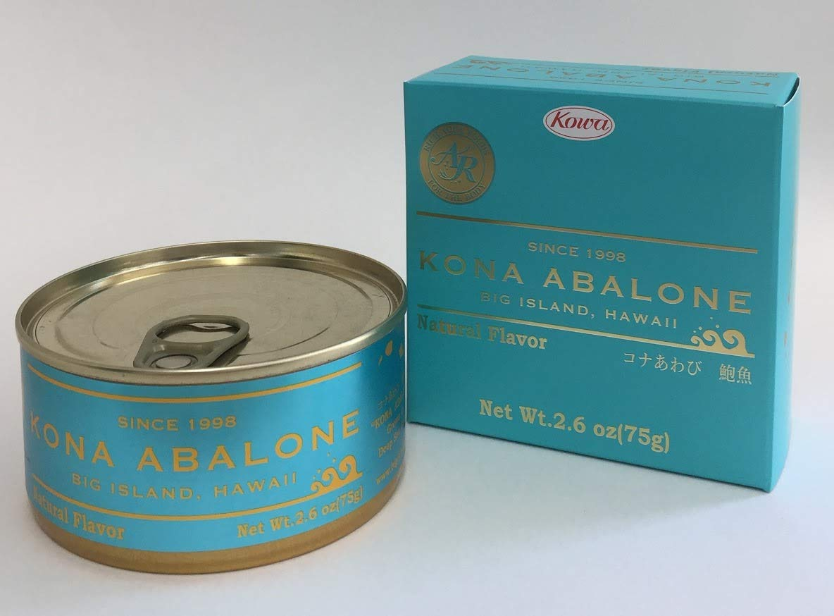 Kona Abalone Canned Ezo Abalone Natural Flavor Large Can 75g