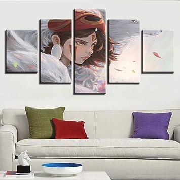 XLST Lienzo Arte de la Pared HD Imprime Fotos 5 Unidades ...