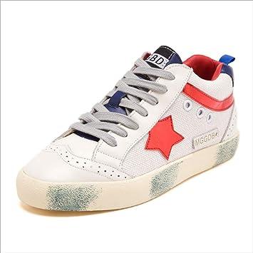 Zapatos casuales de cuero para mujeres, zapatos de entrenamiento de amortiguación confortables, zapatos de gimnasio transpirables ligeros para caminar ...
