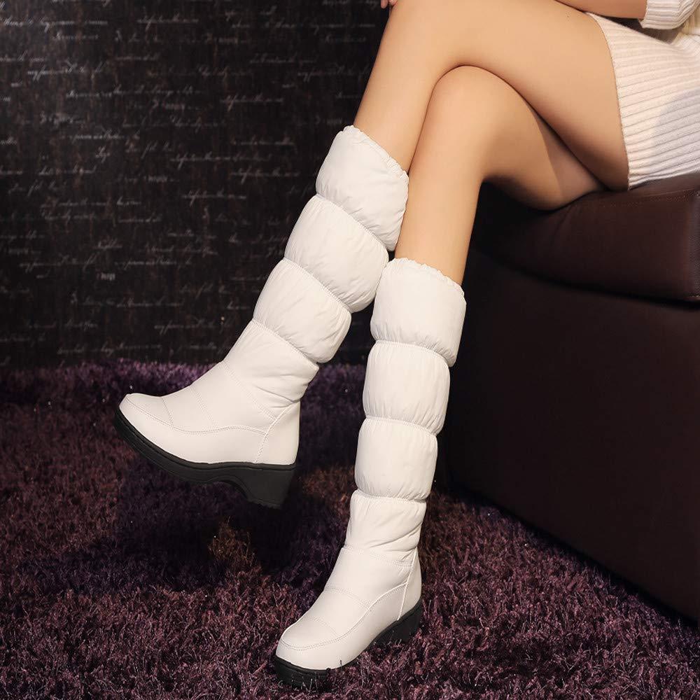 Memela Winter Snow Boots Platform Plush Casual Down Zip Waterproof Warm High Tube Cotton Shoes