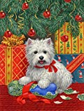 Cheap Caroline's Treasures ASA2080CHF Westie Christmas Packages Canvas House Size Flag, Large, Multicolor