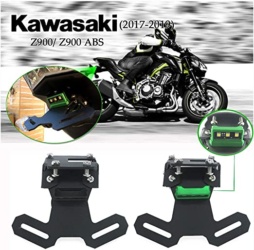 Motor License Plate Mount Bracket Holder LED Light For Kawasaki 2017 Z900 2017