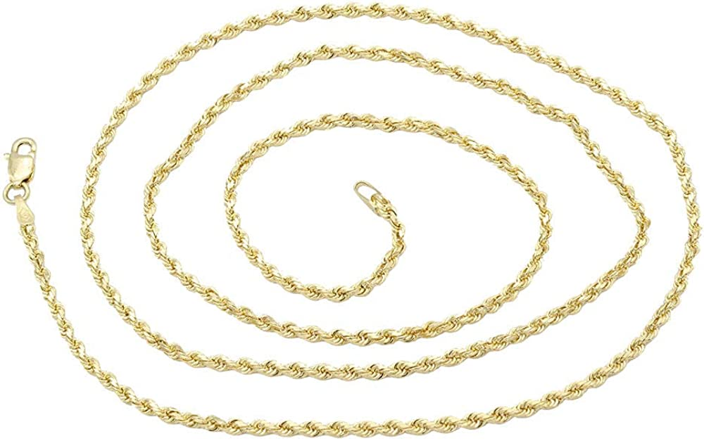 14k Gold Solid Rope Chain...