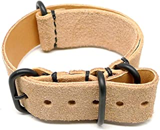 product image for DaLuca Military Watch Strap - Natural Suede (PVD Buckle) : 20mm