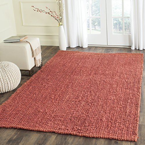 Safavieh Natural Fiber Collection NF447C Hand Woven Rust Jute Area Rug (6' x 9') - Rust Rug