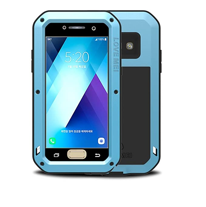 new product 1a3a6 577cd Galaxy A5 2017 Case , Bpowe Armor Tank Aluminum Metal Gorilla Glass  Shockproof Military Heavy Duty sturdy Protector Cover Hard Case for Samsung  Galaxy ...