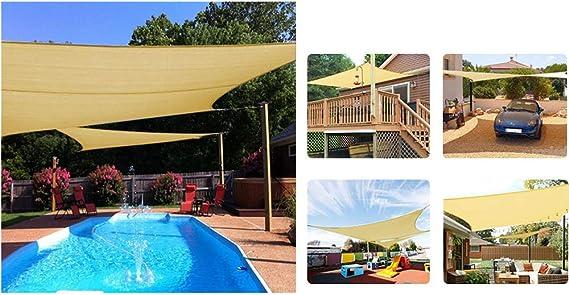 GKPLY Velas de Sombra al Aire Libre - Velas de Sombra de Playa de Techo Rectangular para terraza jardín instalaciones y Actividades al Aire Libre,L: Amazon.es: Deportes y aire libre