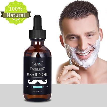 greatlizard Mabox Best aceite para barba de madera de sándalo – Revitalisant y suavizante para caballero