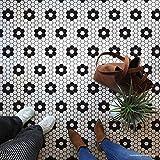 Hexagon Tile Floor Stencil - Classic Retro Penny