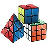 Zauberwürfel Set, Roxenda Zauberwürfeln-Serie von 2x2x2 3x3x3 Pyramid Cube Würfel Smooth Zauberwürfeln (3 Pack)