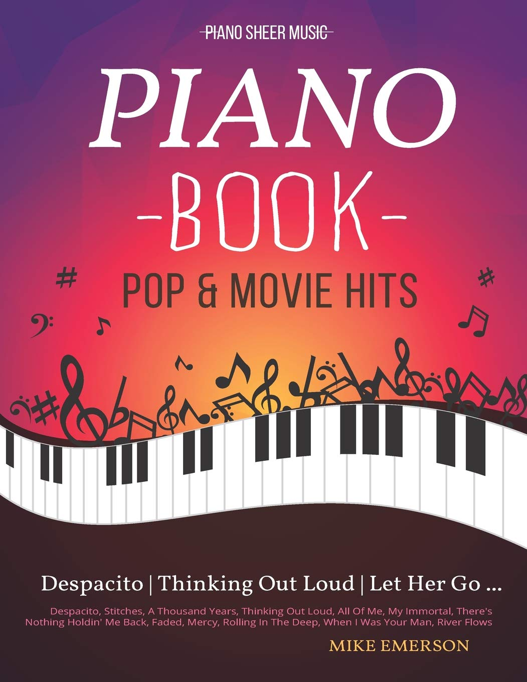 Piano Book Pop & Movie Hits: Piano Sheet Music: Amazon.es: Emerson ...