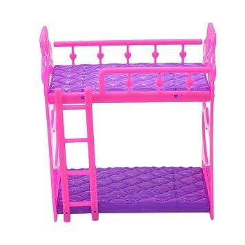 Amazon Com Dolland 7pcs Set Cartoon Plastic Bunk Bed Furniture Kids