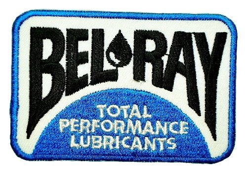 [BEL-RAY Oil Lubricants Motorcycles Dirt Bikes super stock Racing Label Patch Sew Iron on Logo Embroidered Badge Sign Emblem Costume BY] (Super Ray Costume)