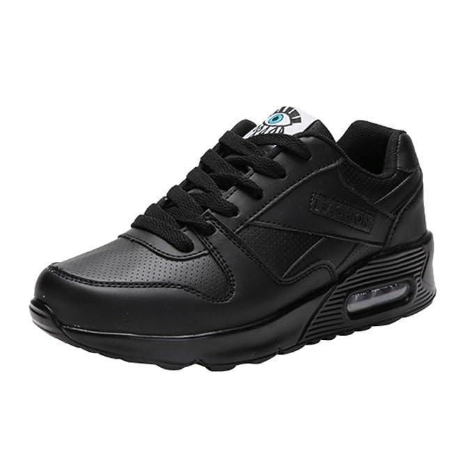 Zapatillas de deporte senderismo de mujer y Chica,Zapatos de mujer de moda Zapatos casuales Zapatos para caminar al aire libre Flats Lace Up Ladies Shoe: ...