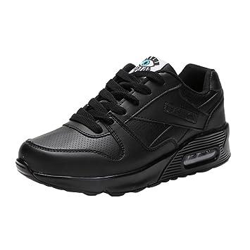 Zapatillas de deporte senderismo de mujer y Chica,Zapatos de mujer de moda Zapatos Casuals Zapatos para caminar al aire libre Flats Lace Up Ladies Shoe: ...