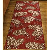 Park Designs Pinecone Hooked Rug Runner, 24 x 72