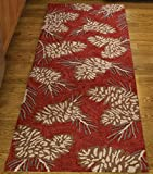 Park Designs Pinecone Hooked Rug Runner, 24 x 72''