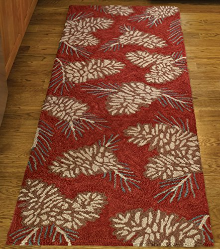 Park Designs Pinecone Hooked Rug Runner, 24 x - Pinecone Design