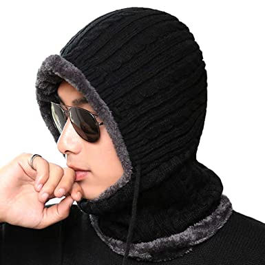 Beastore Winter Knitted Hat Beanie Men Scarf for Women Men Caps Bonnet Mask  Brand Hats (A)  Amazon.in  Clothing   Accessories d55a65e2968