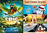 Cat in the Hat & Beethoven + Babe & Epic Cartoon - DVD 4 Movie Combo Family Animal kid fun set Dr. Seuss