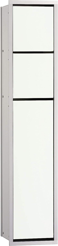 Emco rasante inodoro Módulo asis-euro 150en aluminio 809mm, 1pieza, color blanco, 975027450