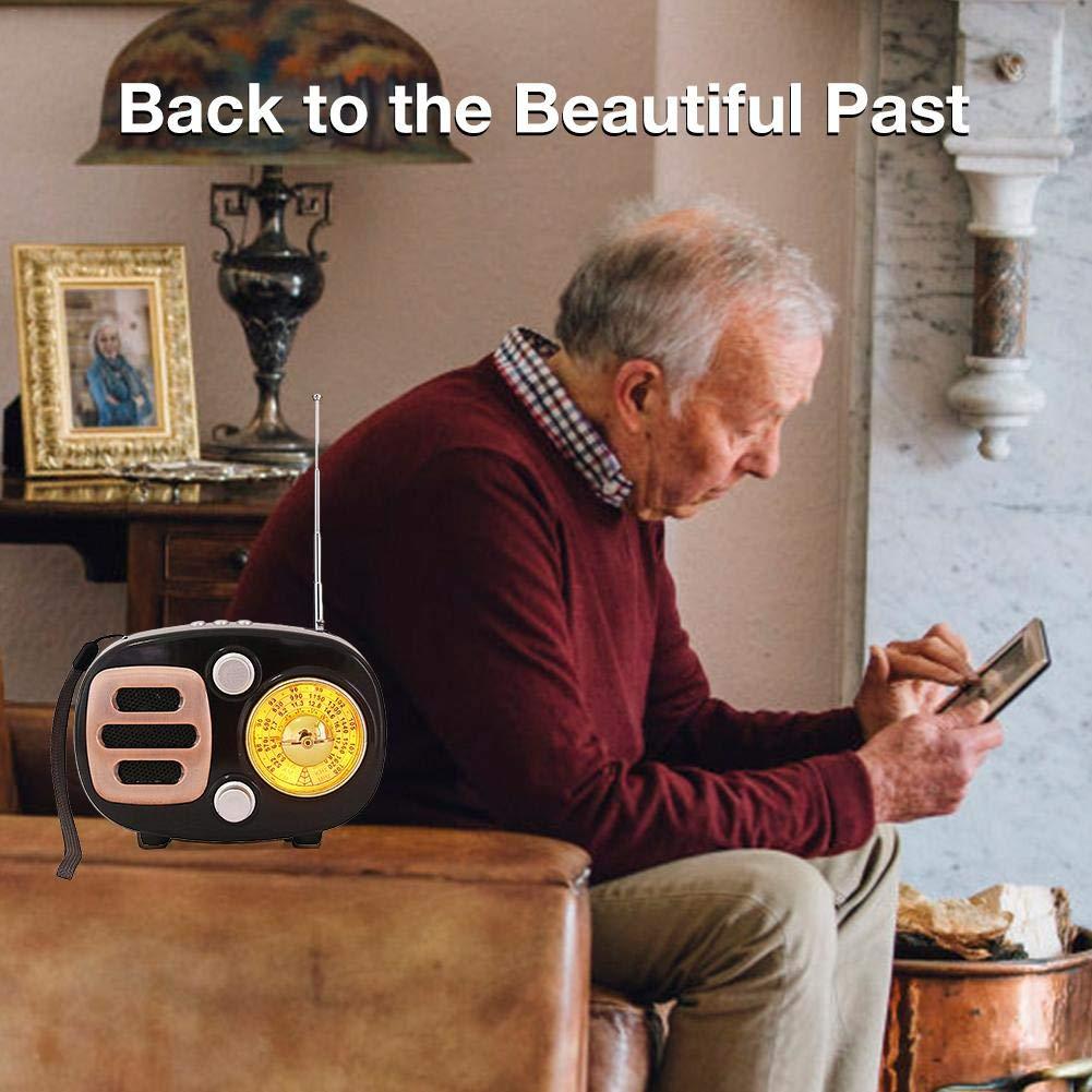 sweet dream Vintage Radio, Retro Bluetooth Speaker, Multi-Function FM Radio, AM FM SW Shortwave Bluetooth Radio Support TF Card MP3 Player, Strong Bass Enhancement by sweet dream (Image #4)