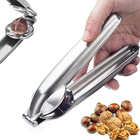 Stainless Steel Kitchen Plier Tools Premium Nut Cracker Sheller Walnut Pliers Chestnut Opener Clip