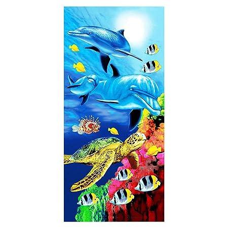 Stillshine Infantiles Toallas de Playa Microfibra 3D Oceano ...